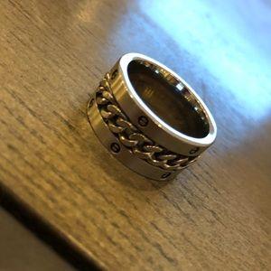 Other - Men's Chain-design Silver-tone Fashion Ring